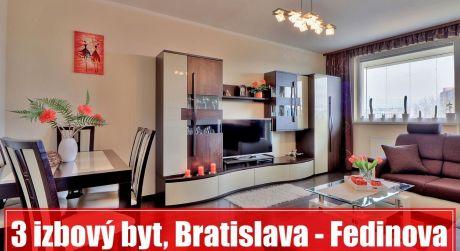 3 izbový priestranný byt v PETRŽALKE na FEDINOVEJ čaká len na vaše nasťahovanie...