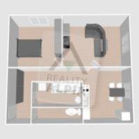 2 izbový byt, Prievidza, 59 m², Čiastočná rekonštrukcia