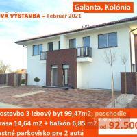 3 izbový byt, Galanta, 99.47 m², Novostavba