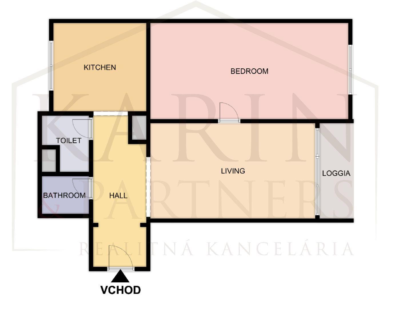 2-izbový byt-Prenájom-Bratislava - mestská časť Staré Mesto-650.00 €