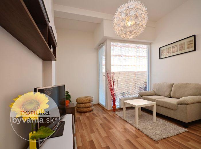 PRENAJATÉ - IVANSKÁ CESTA, 2-i byt, 48 m2 – kompletne ZARIADENÝ s AC, štýlová NOVOSTAVBA, vysoké stropy, VLASTNÁ TERASA