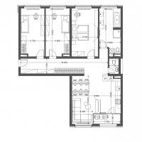 4 izbový byt, Žilina, 117.50 m², Vo výstavbe