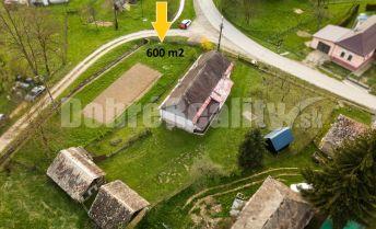 PREDAJ: Pozemok pri potoku - bývanie, aj rekreácia, 600 m2, Potok, okres Rimavská Sobota