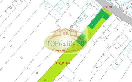 ZĽAVA !!  - Rodinný dom s pozemkom 1 652 m2, 20 km od Banskej Bystrice – cena 138 000€