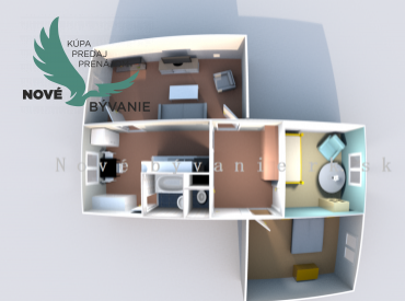 Rezervované - Nové bývanie Realitná kancelária ponúka 3 izbový byt o rozlohe 75 m2 v Podbrezovej