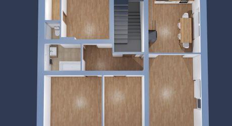 PREDANÉ-4 izbový veľkometrážny byt v Priekope s garážou a vlastným pozemkom