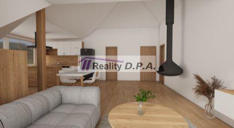 2 izbový podkrovný kompletne prerobený byt v Priekope s garážou a vlastným pozemkom