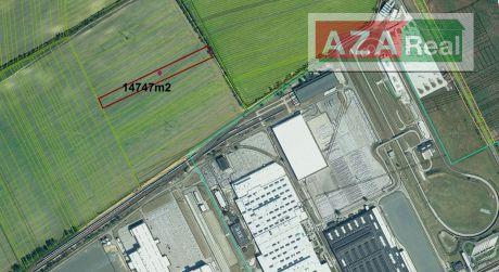 Investičný pozemok pre komerčnú výstavbu- sklady, logistické centrá -14747m2