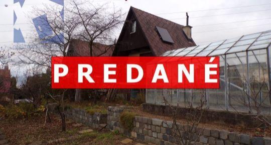 PREDANÉ Na predaj murovaná záhradná chatka so záhradou 267 m2 Prievidza FM1032