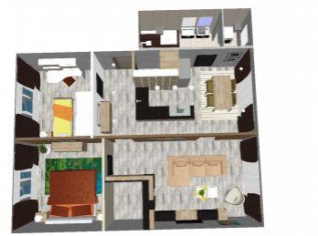 EXKLUZÍVNE IBA U NÁS ! - na predaj 3 izbový byt po rekonštrukcii