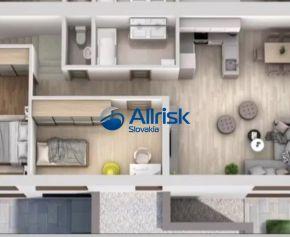 3-izbový byt s vlastným parkovacím miestom a terasou
