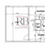Na predaj veľký 1 izbový byt na Medveďovej ulici v Petržalke, BAV