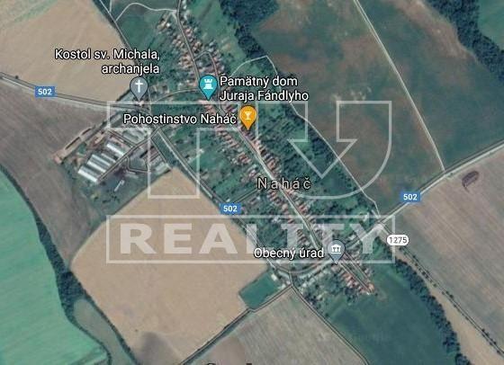 Stavebný pozemok o výmere 1188 m2 (16 m x 72 m), Naháč, okr. Trnava. CENA: 61 980,00 EUR