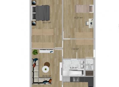 NOVINKA: Veľký slnečný 3-izbový byt Jégeho s parkovaním.