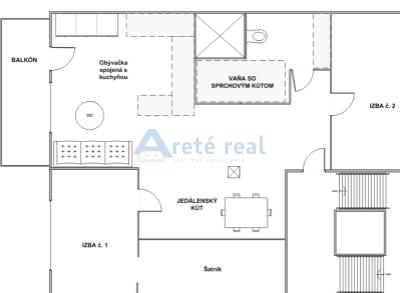 Areté real- predaj pekného 3-izb. bytu s balkónom- Svätý Jur