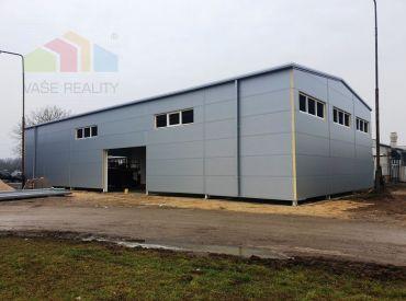 ** Na prenájom novovybudovaná komerčno-priemyselná hala 440 m2 v stave dokončovania - Nové Mesto n/V **