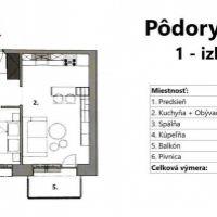 1 izbový byt, Bratislava-Ružinov, 37 m², Novostavba