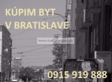 HĽADÁME / KÚPIME 4 izbový byt Nové mesto , Širšie centrum - BRATISLAVA