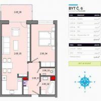 2 izbový byt, Košice-Krásna, 70 m², Novostavba