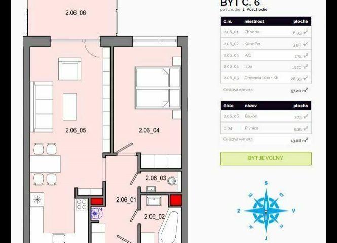 2 izbový byt - Košice-Krásna - Fotografia 1