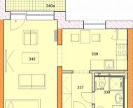 1-izbový byt 35m2, park.miesto,novostavba, Sĺňava-Piešťany-Banka