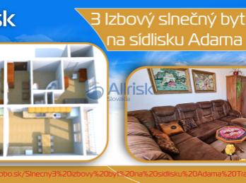 Slnečný 3 izbový byt na sídlisku Adama Trajana