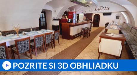 Predaj zabehnutej reštaurácie Lucia s terasou v centre Dolného Kubína