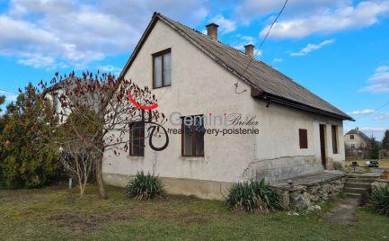 GEMINIBROKER ponúka v Tornyosnémeti pekný rodinný dom v tichej uličke