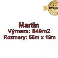 Pre rodinné domy, Martin, 849 m²