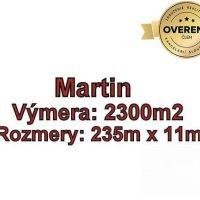 Pre rodinné domy, Martin, 2300 m²