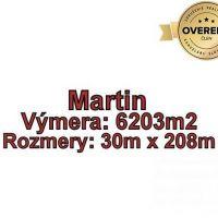 Pre rodinné domy, Martin, 6203 m²