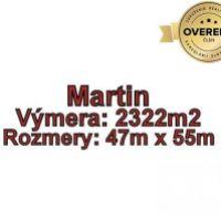 Pre rodinné domy, Martin, 2322 m²