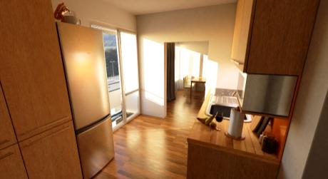 Predaj novostavby 1 izbového bytu so záhradkou v Detve.