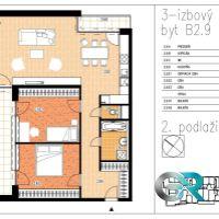 3 izbový byt, Beluša, 105.45 m², Novostavba