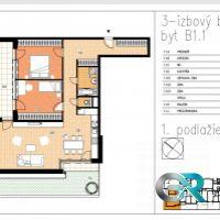 3 izbový byt, Beluša, 104.57 m², Novostavba