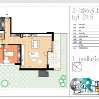3 izbový byt, Beluša, 100.51 m², Novostavba