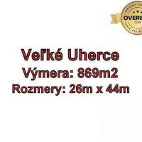 Pre rodinné domy, Veľké Uherce, 869 m²