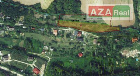 Rekreačný pozemok v Moravanoch nad Váhom je na predaj-7085m2