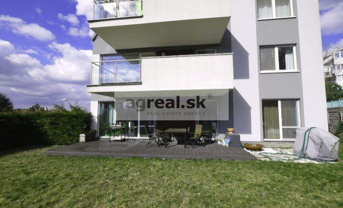 4-izbový byt so záhradou, novostavba, čiastočne zariadený, Drotárska ulica, 2-garáž