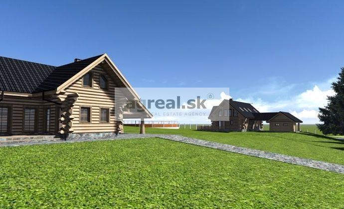 Ucelený pozemok 2 ha na ranč, zrubové chaty a rekreáciu, Liptov - Vysoké Tatry, Liptovský Peter