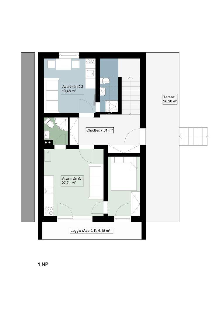 Na predaj apartmánový dom, 6 apartmánov, Veľký Slavkov - 28