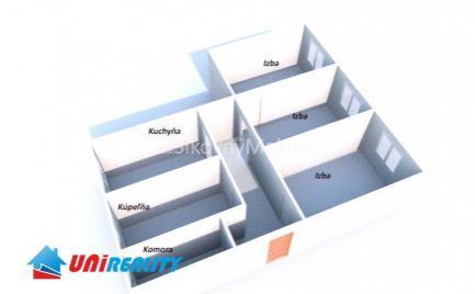 BÁNOVCE NAD BEBRAVOU - 3 izbový byt - zrekonštruovaný / Centrum / Vlastné kúrenie / IBA U NÁS