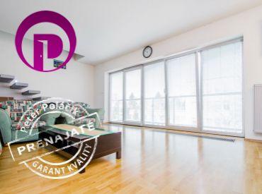 PRENAJATÉ - 3i byt, 122 m2 – BA – Ružinov - NIVY: VEĽKOMETRÁŽNY mezonetový byt S TERASOU s nádherným výhľadom na HRAD