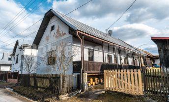 REZERVOVANÉ: Vidiecky dom s gánkom a hospodárskou budovou, 85 m2/1070 m2 pozemok, Čierny Balog, časť Dobroč, okres Brezno