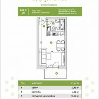 1 izbový byt, Biely Kostol, 25 m², Novostavba