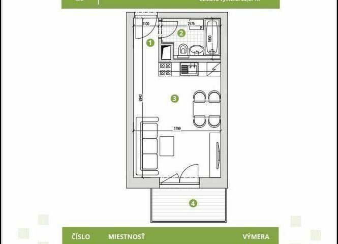 1 izbový byt - Biely Kostol - Fotografia 1