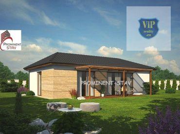 Novostavba 4+1 bungalovu 88m2 na kľúč s pozemkom 515 m2, Banská Bystrica - Hrochoť