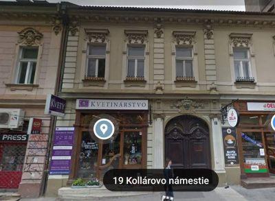 Historická budova prístupná z dvoch ulíc Kollárovo námestie a Vysoká BA I. Výborný investičný zámer.  UP- 1252 m2  , 2000€/m2