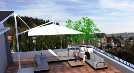 Predaj novostavby 1 izbového bytu s terasou v Detve.