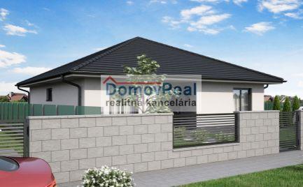 Novostavba -  4 izbový rodinný dom s veľkým pozemkom v obci Lehnice - Sása